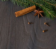 Star anise and fir Stock Photo