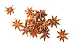 Star anise herb. Isolates on white back ground Royalty Free Stock Image