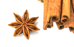 Star  anise  isolated  on white background Royalty Free Stock Images