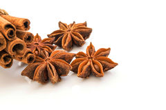 Star  anise  isolated  on white background Stock Photo