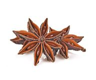 Star Anise isolated on white background stock images
