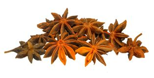 Star anise isolated on white stock photo