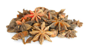 Star anise over white Stock Photos