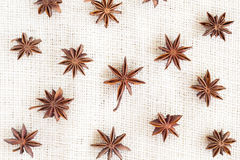 Star anise pattern background Royalty Free Stock Photos