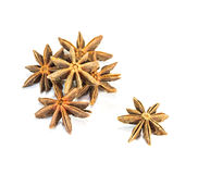 The star anise on sacks texture. Royalty Free Stock Image