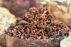 Star anise in the souk in Dubai Stock Images