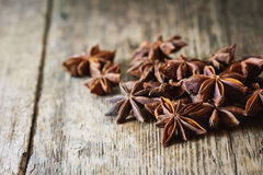 Star anise spice and fruit seeds Royalty Free Stock Photography