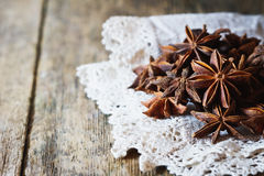 Star anise spice and fruit seeds Stock Images