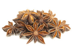 Star Anise Spice in a Pile Isolated Stock Photos