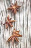 Star anise. On wooden table stock image