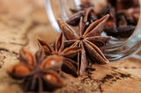 Star anise. On the table Royalty Free Stock Images