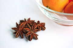 Star Anise and Tangerines Stock Photography