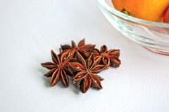 Star Anise and Tangerines Stock Photo