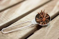 Star anise was placed on top Royalty Free Stock Photo