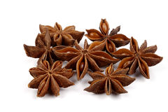 Star anise on white Royalty Free Stock Images