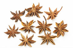 Star anise on white background Royalty Free Stock Images