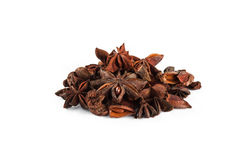 Star anise on white Royalty Free Stock Photo