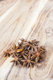 Star anise on a wooden table. Selective focus Stock Images