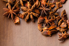 Star aniseed background Royalty Free Stock Photo