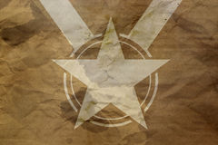 Star on antique background Stock Photos