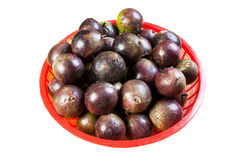 Star apple fruit it comes with green or purple color Stock Images