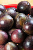 Star apple fruit it comes with green or purple color Stock Photos
