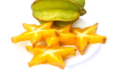 Star apple. On white background Royalty Free Stock Photos