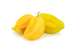 Star apple on white background Royalty Free Stock Images