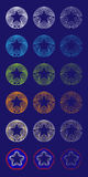 Star Approval Seals. Vector Illustration of Star to Circle Blends Stock Images