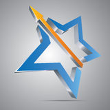 Star With Arrow Royalty Free Stock Images