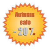 Star for autumn discount prices. Vector illustrati Stock Photography