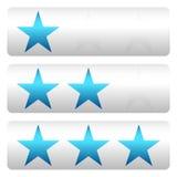 Star a avaliação com 3 estrelas - Star os painéis da avaliação Fotografia de Stock Royalty Free