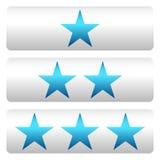 Star a avaliação com 3 estrelas - Star os painéis da avaliação Imagem de Stock Royalty Free