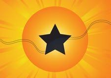Star avec le soleil Photographie stock libre de droits