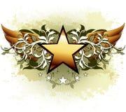 Star avec les éléments fleuris Photo stock
