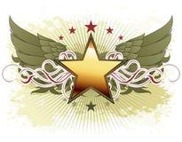 Star avec les éléments fleuris Images libres de droits