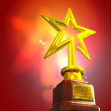 STAR AWARD. Against glow gradient background Royalty Free Stock Image