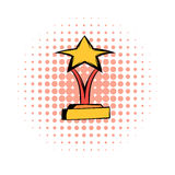 Star award comics icon Royalty Free Stock Images