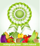 Star award for environmentally friendly fresh prod Stock Images
