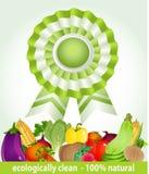 Star award for environmentally friendly fresh prod stock images