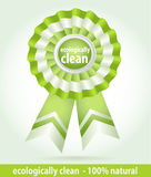 Star award for environmentally friendly product royalty free stock images