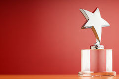 Star award on the gradient background Stock Photography