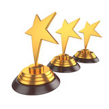 Star award Isolated on White Background, 3D rendering Stock Photo
