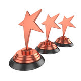 Star award Isolated on White Background, 3D rendering Royalty Free Stock Photos
