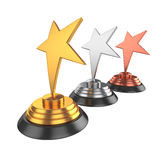 Star award Isolated on White Background, 3D rendering Royalty Free Stock Images