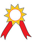 Star award ribbon  badge Stock Images