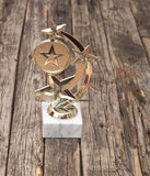Star award with space for text Royalty Free Stock Images