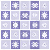 Star background. Checkered lilac star christmas background stock illustration