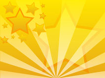 Star background. Abstract vector background - yellow stars Stock Photos