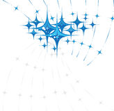 Star background. Blue stars over white vector illustration